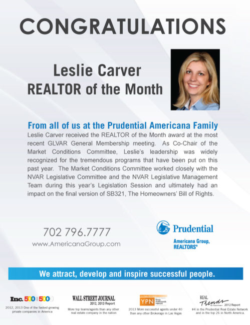 Realtor of the Month