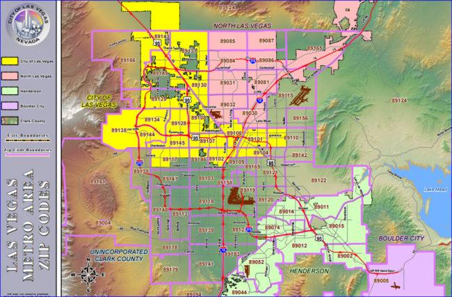 Las Vegas Zip Code Map Current Printable Zip Code Map For 2016